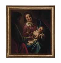 the holy family with saint joseph by gerrit van honthorst