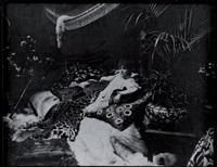 portrait de sarah bernhardt allongée chez elle by nadar