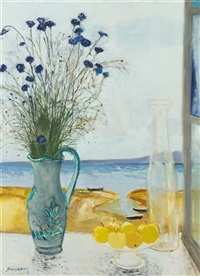 still life by shore by michael henry
