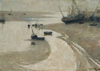 low tide, etaples, france by isobel rae