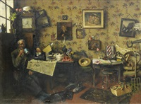 nothing like leather! by charles spencelayh