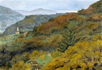 herbstliche tessiner landschaft bei beride by sigismund righini