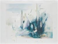 soft blue landscape by richard hamilton
