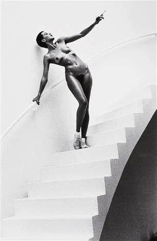 jenny in my studio by helmut newton