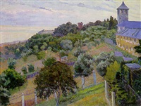 paysage aux environs de gênes by orlando grosso