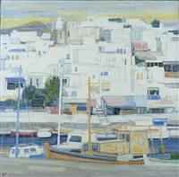 le bateau jaune à naxos, grèce by ginette rapp