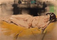 reclining nude by han van meegeren