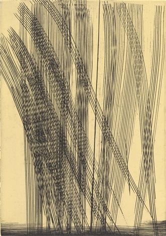 ohne titel (gelb) (from heraclite - mieux vaut cacher sa deraison) by hans hartung