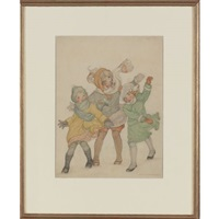 three children in the wind by alice bolam preston
