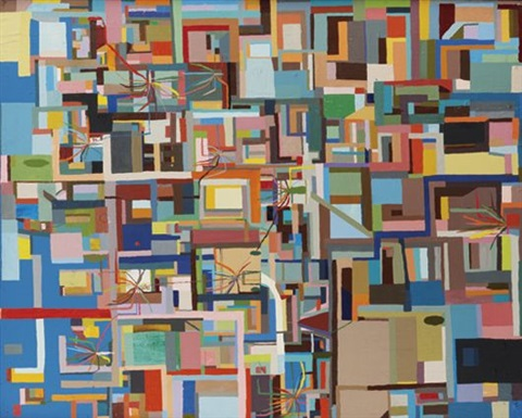contemporary lifestyle painting by chris johanson