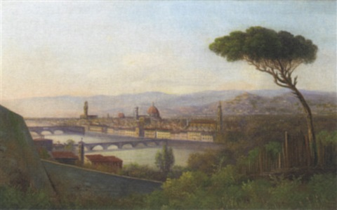 a view of florence from across the arno by e altrui