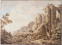 the ruins of brederode castle by anthony andriessen