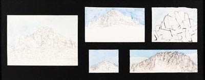 hanging rock (5 works) by robert jacks