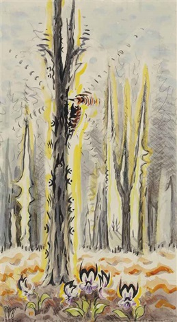 the woodpecker by charles ephraim burchfield