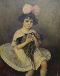jeune fille à la poupée by princesse marie eristoff-kasak