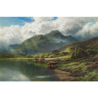 loch achray and ben venue, perthshire by henry decon hillier