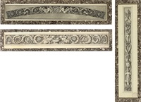 design for elaborate friezes (+ 2 others; 3 works) by jean guillaume moitte
