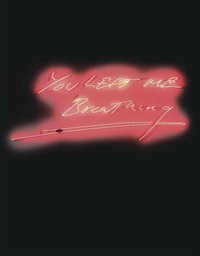 you left me breathing by tracey emin