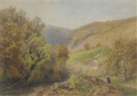 cottage in a valley by j.w. beck