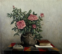 still life with roses by theodoros manolidis