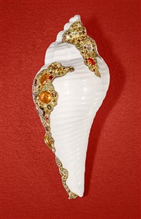 shell brooch by nicolas varney