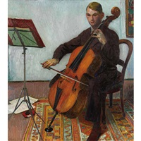 der cellospieler by cuno amiet