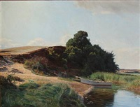 summer day in denmark by georg nicolaj achen
