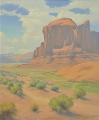 sand springs, monument valley utah by karl albert