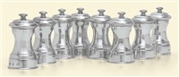 pepper mills (set of 8) by c.j. vander ltd