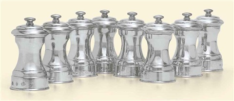 pepper mills set of 8 by cj vander ltd