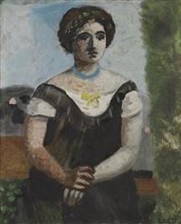 portrait de madame rivière by roger bissière