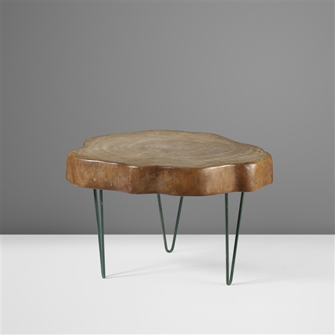 important and rare tree trunk coffee table by pierre jeanneret