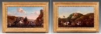 paire de scènes de batailles (2 works) by jacques courtois