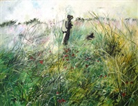 couple in landscape by sarit gura