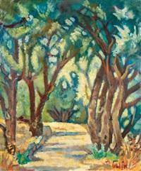 wooded path by arieh allweil