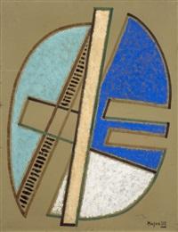 composition verte by alberto magnelli
