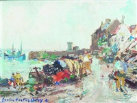 port de pêche en bretagne by lucien victor félix delpy