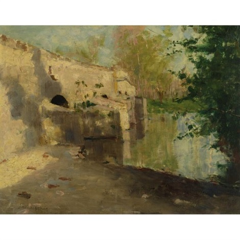 the old bridge by john henry twachtman