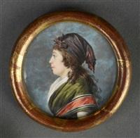 portrait de madame agathe-françoise lemoine née bonvallet by jacques antoine marie lemoine