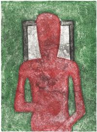 hombre rojo by rufino tamayo
