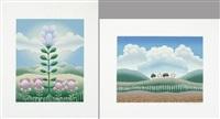 paesaggio e fiori (2 works) by ivan rabuzin