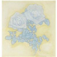 two roses by piet mondrian