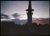 syrie: minaret au crépuscule by jules gervais courtellement