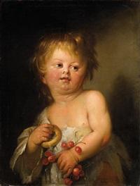 ein kind mit kirschen und einer brezel by anonymous-italian (18)