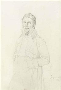 portrait d'un gentilhomme, présumé charles-bernardin-ghislain coppieters-stochove by jean-auguste-dominique ingres