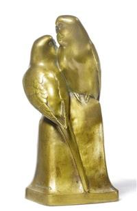 sculpture - two parrots by albert caasmann