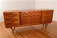 sideboard with parquetry detail by rosando brothers