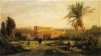 veduta del convento di san bonaventura al palatino by karl august lindemann-frommel