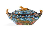 leopard tureen (potted by elizabeth, painted by nonhlanhlo) by ardmore ceramics