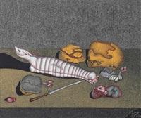 натюрморт с ножом by mihail chemiakin